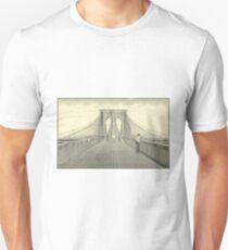 Camiseta unisex Vintage Brooklyn Bridge Illustration (1883) 2