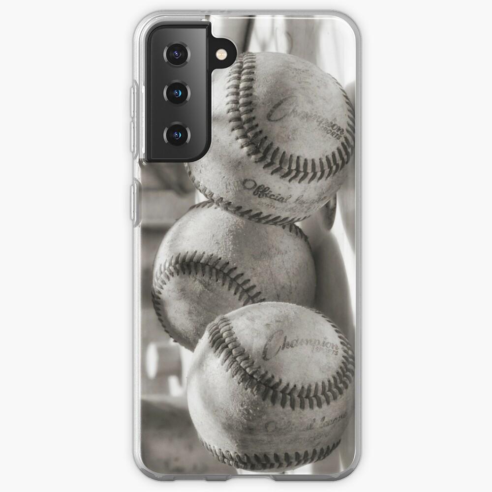 3 Baseballs on a Bucket in Sepia Case & Skin for Samsung Galaxy