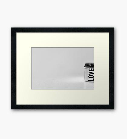 A little bit of love on the side Framed Print