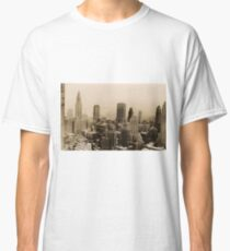 Camiseta clásica Vintage New York City Skyline Photograph (1935)