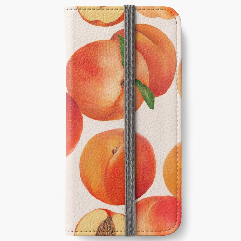 Peaches, Nectarines, Tropical Fruit iPhone Wallet