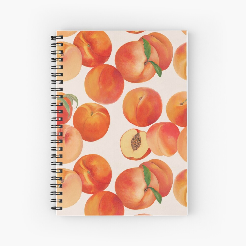 Peaches, Nectarines, Tropical Fruit Spiral Notebook