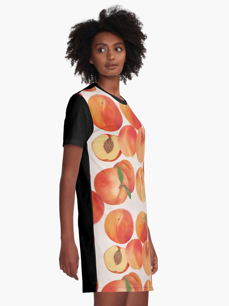 Alternate view of Peaches, Nectarines, Tropical Fruit Graphic T-Shirt Dress