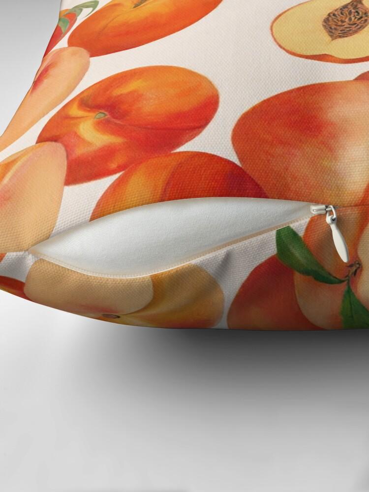 Alternate view of Peaches, Nectarines, Tropical Fruit Throw Pillow