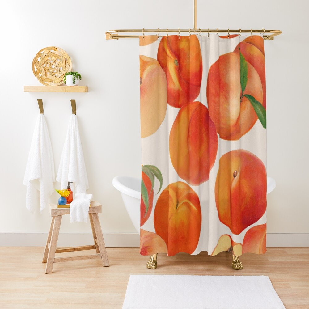Peaches, Nectarines, Tropical Fruit Shower Curtain