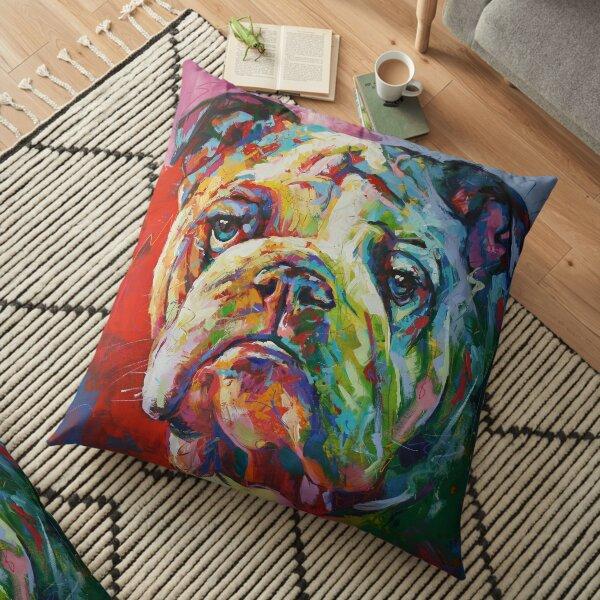 English Bulldog Floor Pillow