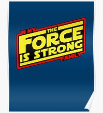 The force is strong... Retro Empire Edition Poster