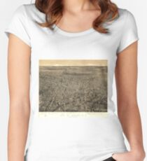 Vintage Pictorial Map of Newark NJ (1874) Women's Fitted Scoop T-Shirt