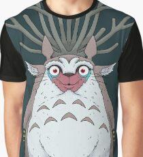 Deer God Totoro Graphic T-Shirt