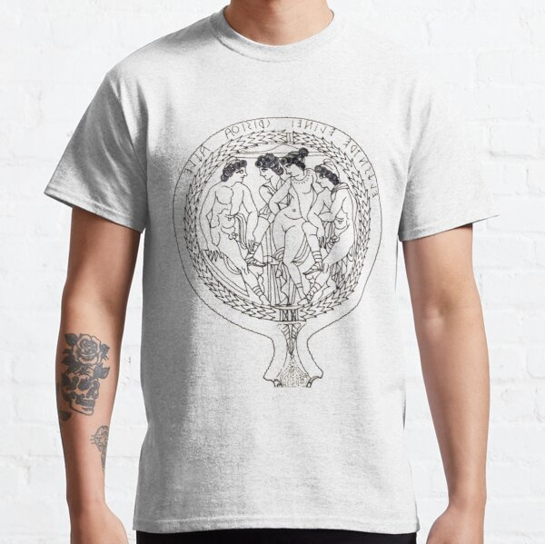 Drawing of an Etruscan Bronze Mirror with a Scene from the Trojan War in the Metropolitan Museum of Art Classic T-Shirt