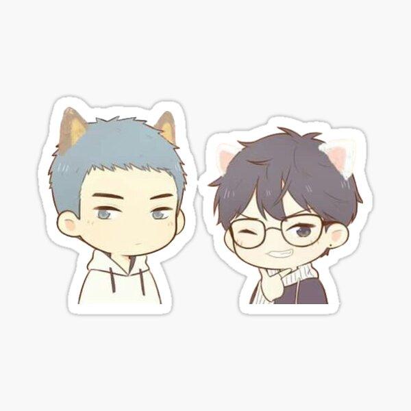 Aquí estás, Lihuan y Yuyang Pegatina