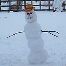 West Texas Cowboy Snowman by R&PChristianDesign &Photography