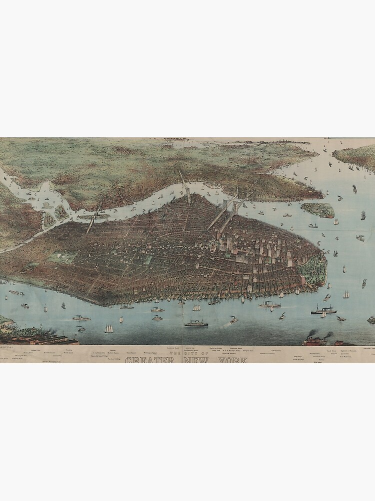 Vintage Map of New York City (1905) de BravuraMedia