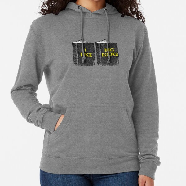 I Like Big Books Lightweight Hoodie