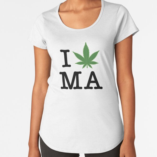 I [weed] Massachusetts Premium Scoop T-Shirt