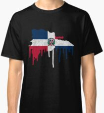 Dominican Republic Paint Drip Classic T-Shirt