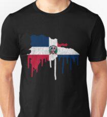 Dominican Republic Paint Drip Unisex T-Shirt