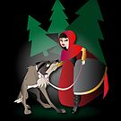 Twisted - Red Riding Hood iPhone case by Lauren Eldridge-Murray