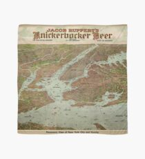 Pañuelo Vintage Pictorial Map of The NYC Area (1912)