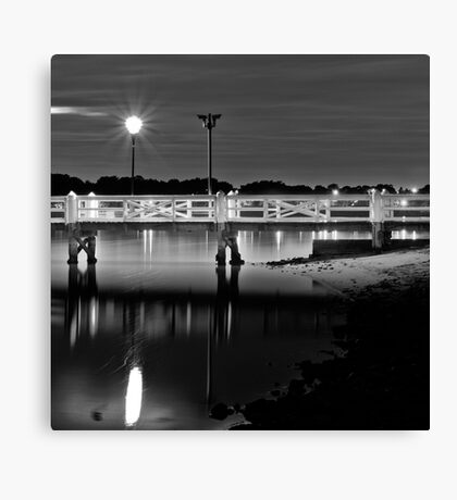 The Picketed Jetty Canvas Print
