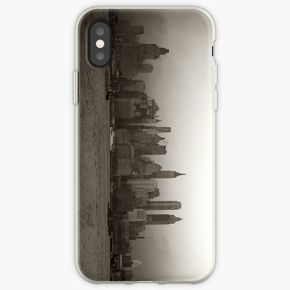 Vintage New York City Skyline Photograph (1941) Funda y vinilo para iPhone