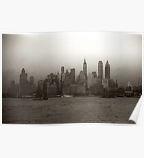 Póster Vintage New York City Skyline Photograph (1941)