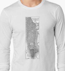 Camiseta de manga larga Vintage Map of New York City (1811)