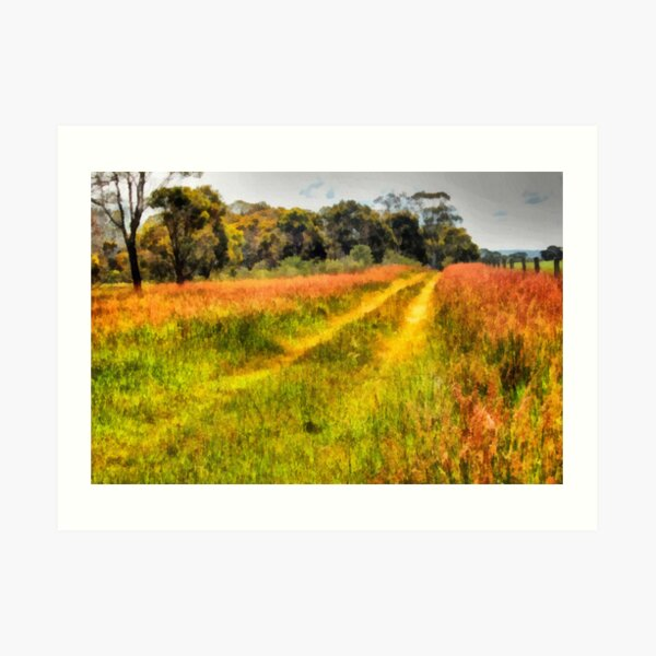 A Country Track Art Print