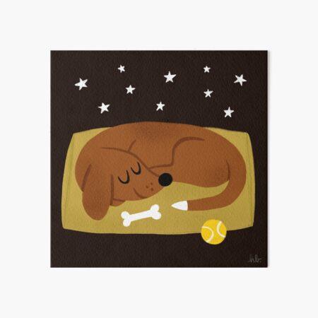Doggo Nap Art Board Print