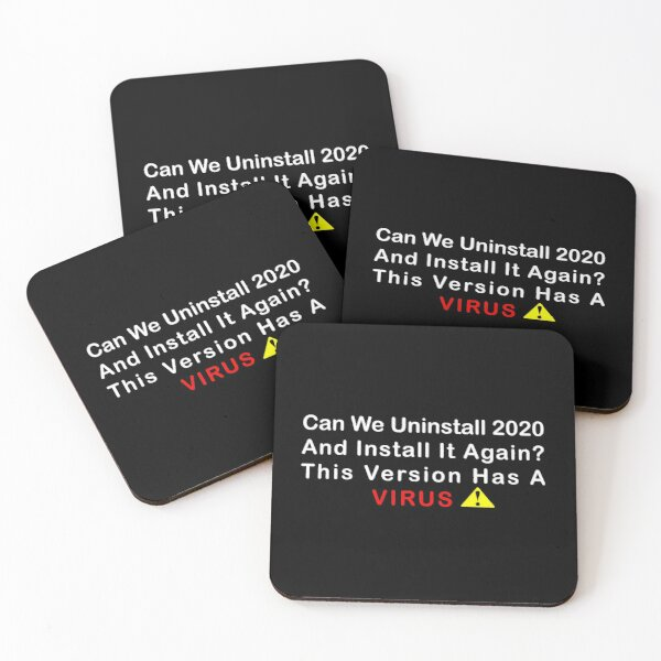 coronavirus funny design Coasters (Set of 4)
