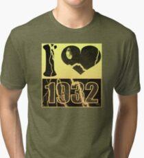 I love 1932 - Vintage lightning T-Shirt Tri-blend T-Shirt
