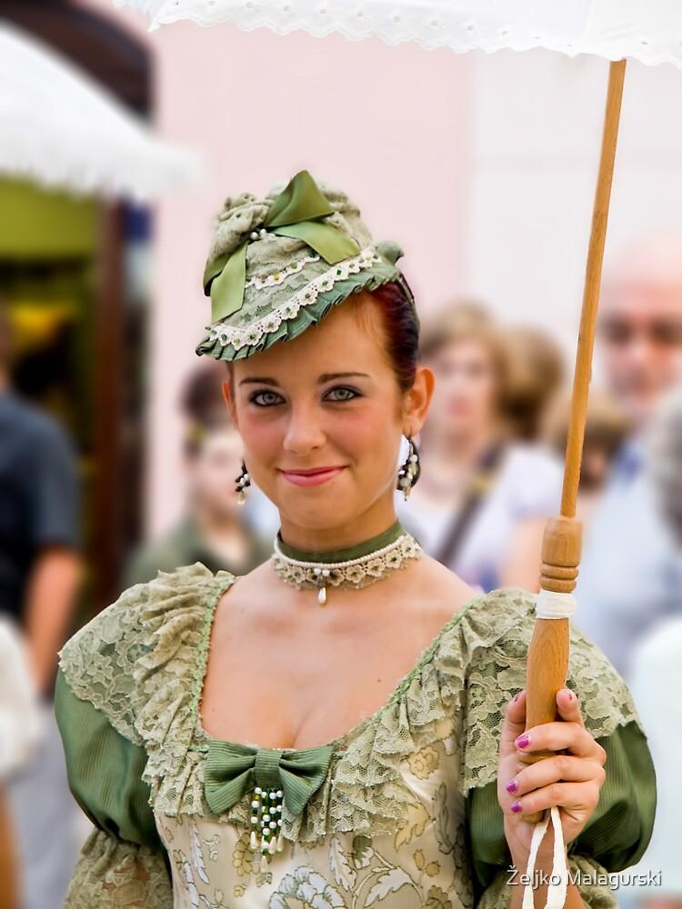 Lady in green 2 by Željko Malagurski