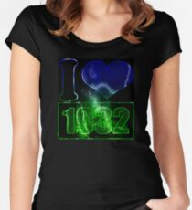 I love 1932 - lighting effects T-Shirt Women's Fitted Scoop T-Shirt