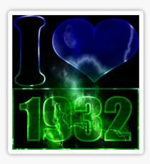 I love 1932 - lighting effects T-Shirt Sticker