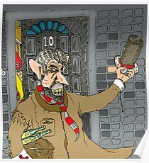 Tony Blair: Number Ten Cartoon Caricature Poster