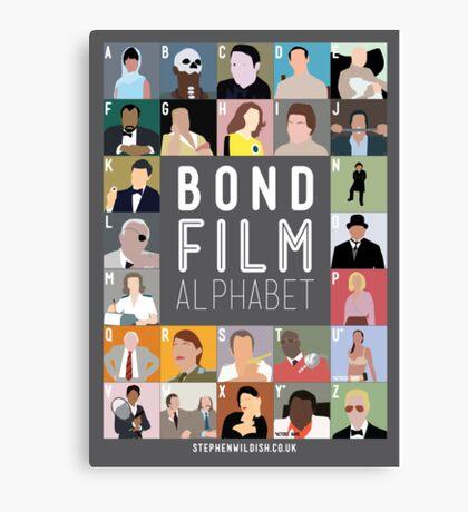 Bond Film Alphabet Canvas Print