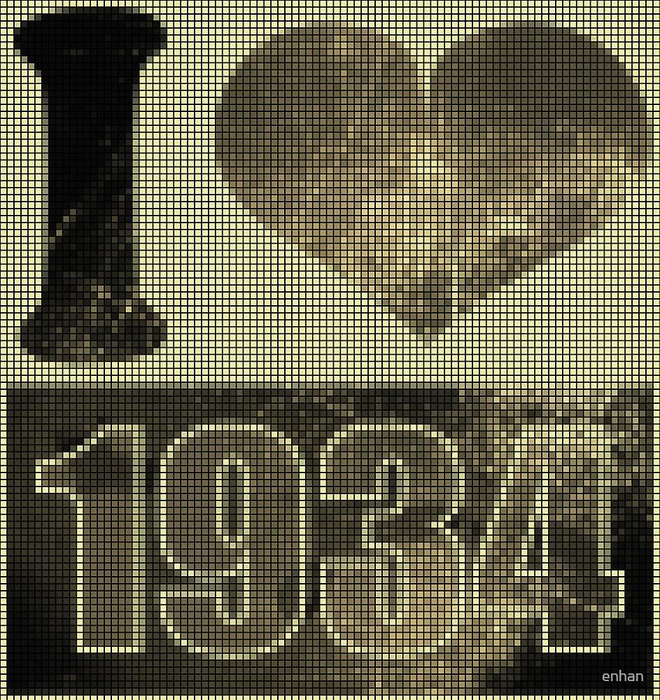I love 1934 - Vintage pixels by Nhan Ngo