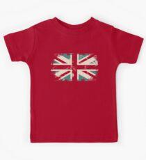 grungy UK flag Kids Tee