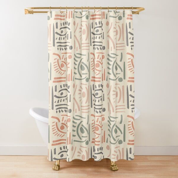 Tribal Eyes #redbubble #pattern Shower Curtain