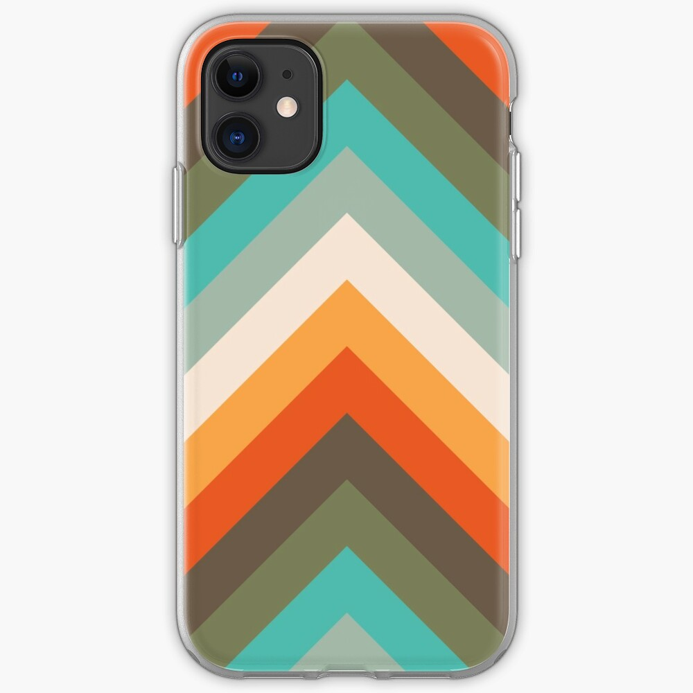 Pfeile Chevrons   Vintage Sommer Farben iPhone-Hülle & Cover