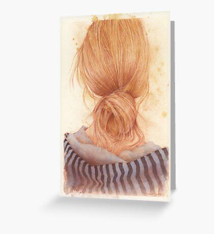 long hair anyone? Greeting Card
