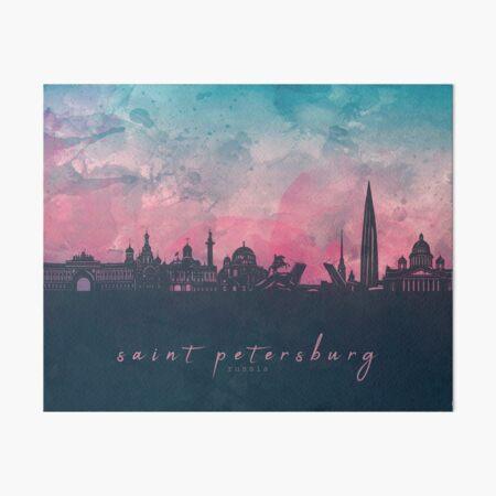 st petersburg skyline Art Board Print