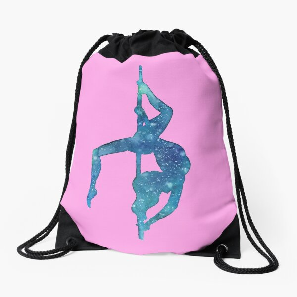 Pole Dancing Underwater Drawstring Bag