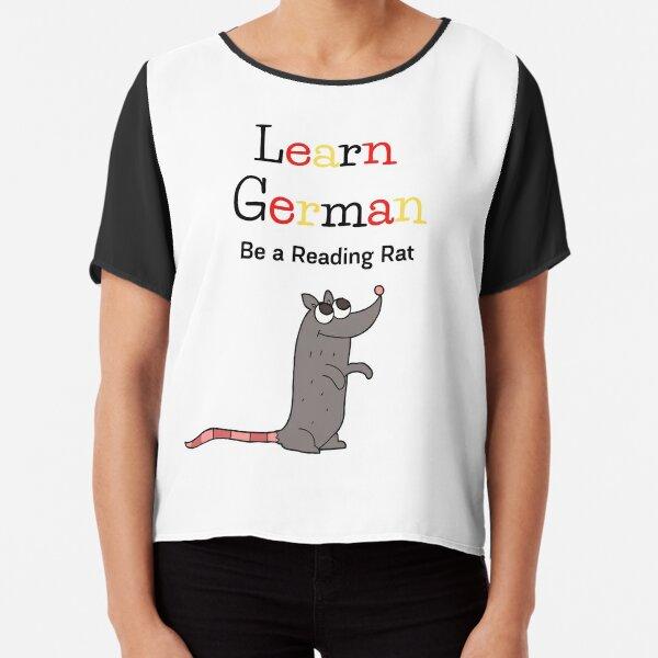 """Bücherwurm"" ist ""Leseratte"" Chiffon Top"