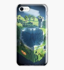 Minecraft cube world iPhone Case/Skin