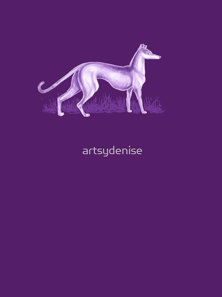Purple Whippet by artsydenise