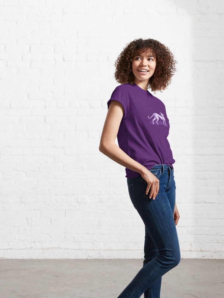 Alternate view of Purple Whippet Classic T-Shirt
