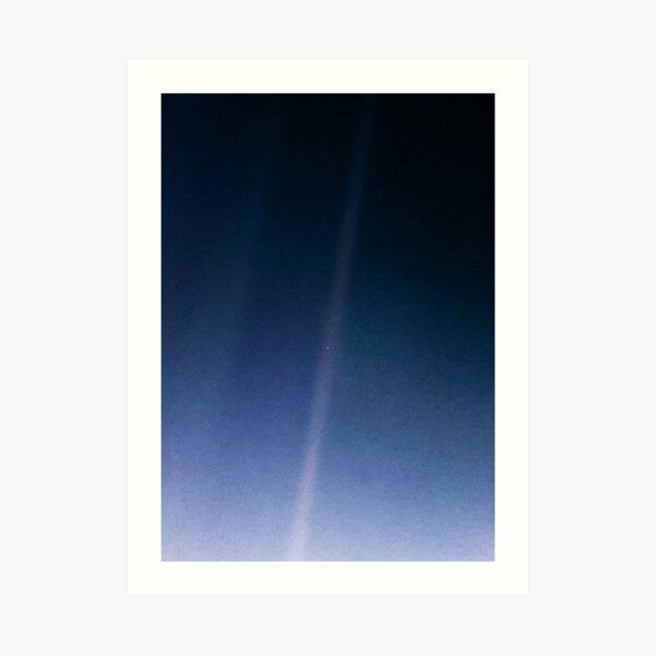Pale Blue Dot — Voyager 1 ⛔ 2020 revision Art Print
