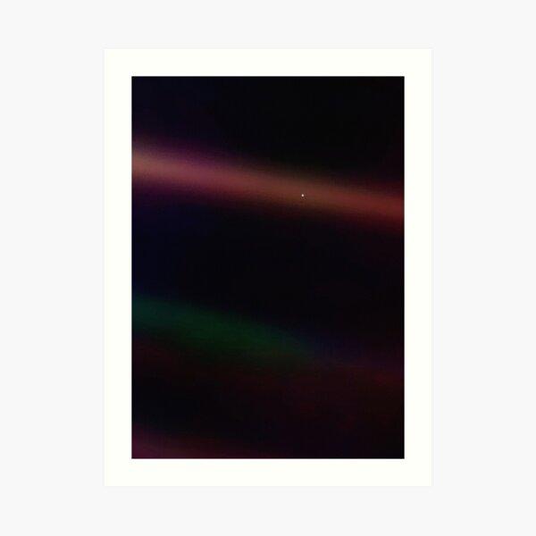 Hellblauer Punkt - Voyager 1 ⛔ HQ-Qualität Kunstdruck