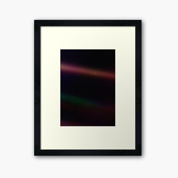 Pale Blue Dot — Voyager 1 ⛔ HQ-quality Framed Art Print